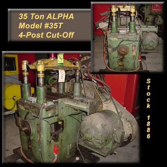 """35 Ton ALPHA, 3"""" Stroke, 2-1/4"""" Post Dia., Air Clutch & Brake, 5HP Motor, 5,200 Lbs."""