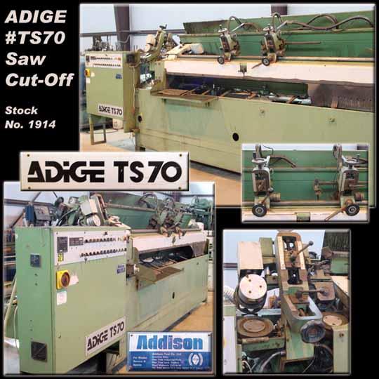 "ADIGE #TS70, 3/8"" O.D. - 3-1/4"" O.D., 2 Length Control Gauges, 3550 Lbs., 1994"