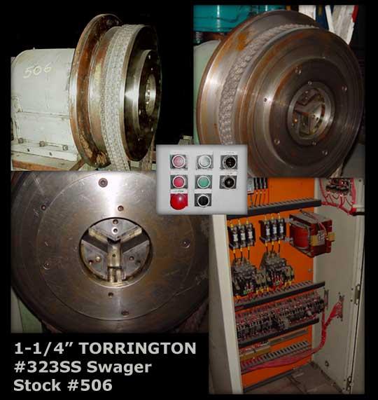 """1-1/4"""" TORRINGTON #323SS, 3-Die, Stationary Spindle, 3-1/2"""" Die Length"""