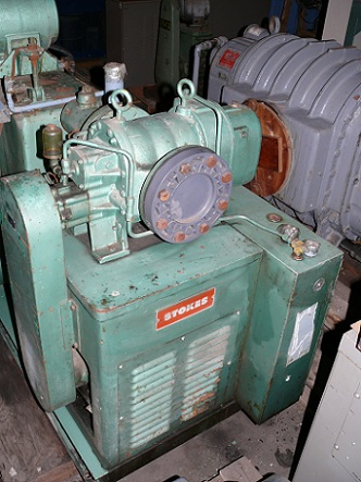588 CFM, Stokes, Stokes 170-70 Pump Blower Package. Roots RGS-58 AVP & 212-11 & Controls. 588 cfm