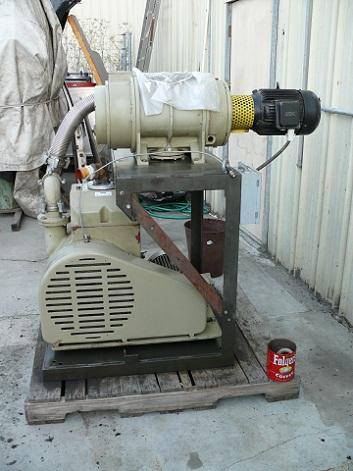 750 CFM, Balzer Pfeiffer, Balzer Pfeiffer Blower Pump Package WKP-1000 Blower & UNO- 170 Roughing Pumps Assem