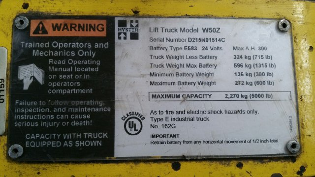 5000 LB HYSTER W50Z WALKIE PALLET JACK Turners Machinery Inc Used