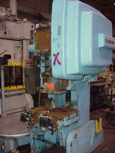 45 Ton Bliss Open Back Inclinable Punch Press 3 D Machinery Sales