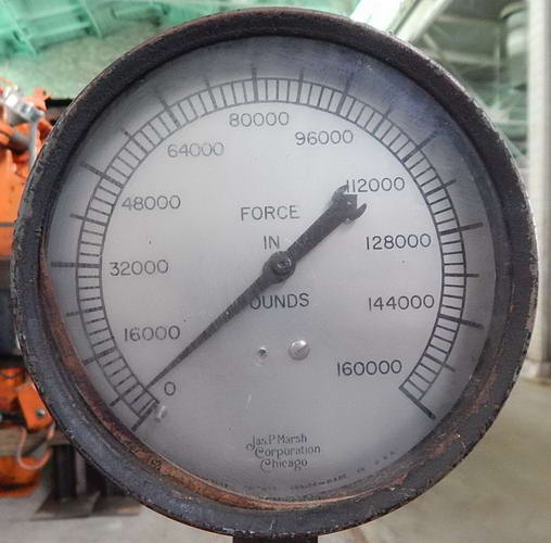 75 Ton ELMES Hydraulic Press, 8