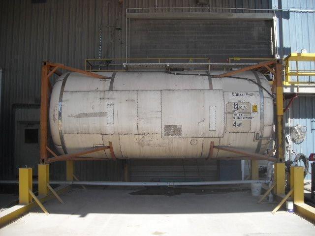 5300gal., 316 Ti/L SS barrel, carbon frame, static storage tank, w/ heat coils, insulation/cladding.