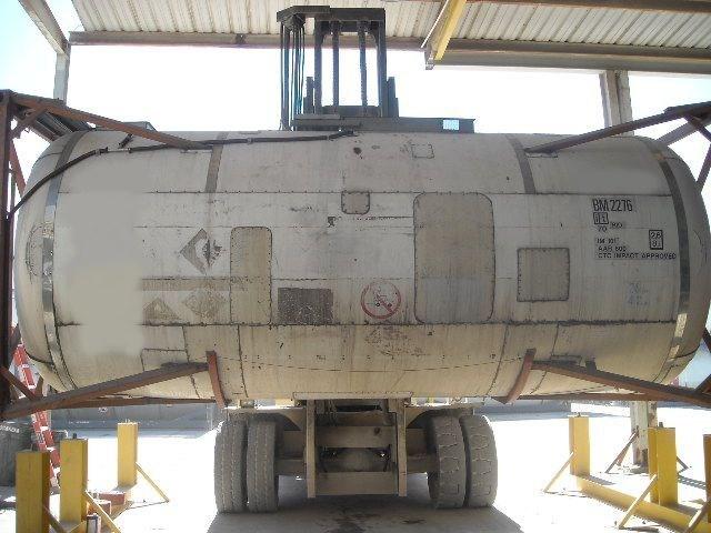 5500gal., 316 Ti/L SS barrel, carbon frame, static storage tank, w/ heat coils, insulation/cladding.