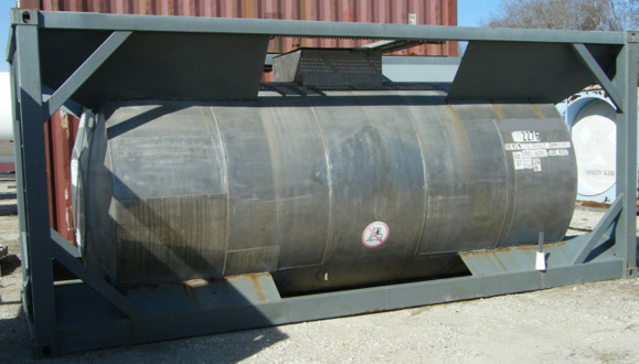 DOT51 T20 class ISO Tanks (5 total), 14500 L capacity, Frame 20', certified for transport of compatible prod