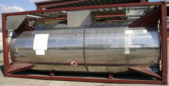 DOT51 T22 class ISO Tanks (5 total), 15100 L capacity, Frame 20', certified for transport of compatible prod